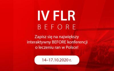 IV FLR BEFORE – jużniebawem największy wirtualny before o leczeniu ran
