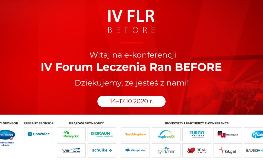 Już dzisiaj IV FLR BEFORE – największa konferencja o leczeniu ran w Polsce